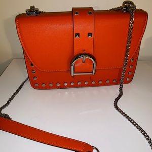 Orange Topshop studded bag 💥